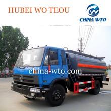 Dongfeng 4*2 químico líquido del tanque del carro, transportador mini camión cisterna de combustible con líquido inflamable,