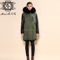 women woolen overcoats winter mink real toscana fur coat