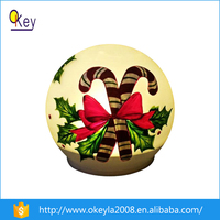 garden decoration solar light glass ball with color painting