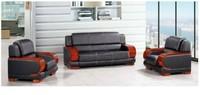 simple PU sofa 1+1+3 sets leather office sofa set