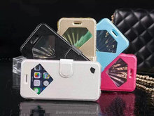 New style high quality pu leather phone case with stand for iphone 6 4.7 for 6 plus for iphone5 and samsung note3 note4