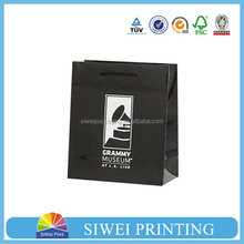2015 Cheap Promotional food grade gift bright yellow paper bag