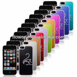 FL2346 Guangzhou hot selling white swan brushed metal case for iphone 5 5G