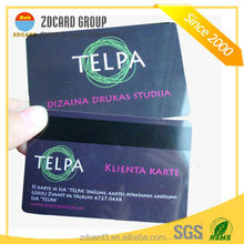 ISO7810 pvc CR80 magnetic card with barcode with writable panel
