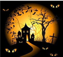 HOT! 2015 lastest lighted canvas wall art halloween gift cheap china factory wholesale for holiday
