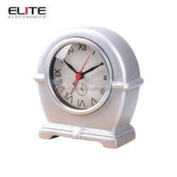 guangdong polyresin beep beep alarm vintage table clock for hotel