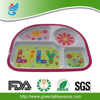 FDA,SGS,LFGB new design plastic melamine tray
