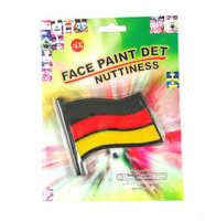 2016 Euro world cup football favorite face paint black and white face painting