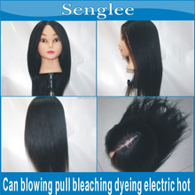 18inch 100% real hair female mannequins on sale