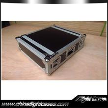 19 Inch 3u Aluminum flight case with 2 way open lid for sale