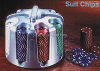 Deluxe Poker Chips, Casino Poker Chips Set with Revolving Rack