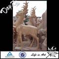 Piedra deer escultura, mármol estatua de los ciervos