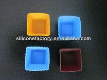 mini cute square silicone cake stand