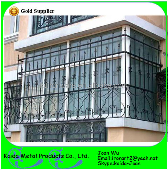 S curit en fer forg acier fen tre grilles pour balcon for Balcony safety grill designs