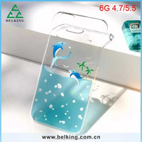 Blue Ocean thin slim trasparent hard mobile phone back case cover for iPhone 6 Plus