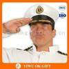 White taffeta navy captain hat, army hat, merchant navy uniform