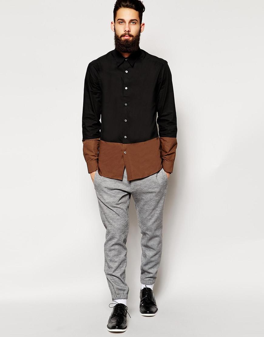 2016 pur coton classique chemise pour hommes slim fit button up deux chemise  de couleur OEM