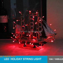 wedding home decoration light red color christmas holiday wedding tree light string light 10m 100 bulb