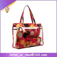 Beautiful Plastic Handbag Inserts Travel Cosmetic Bag Sets