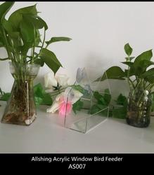 Wholesale plastic bird feeder for the transparent bird feeder large acrylic window bird feeder AS007
