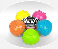 Colorful children's double-layer stainless steel plastic insulated Bowl
