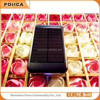 OEM/ODM 2015 New design high quality Portable universal 6000mah solar charger, solar power bank, Sun power for mobile phone