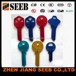 colorful and fasional art key blanks wholesale
