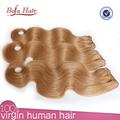 Comercio al por mayor de alta calidad de la miel pelo de la onda del cuerpo rubia armadura del pelo malasio