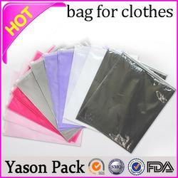 Yason garments bopp bag mini gift/baby/midi/small/medium/large/boutique handing paper clothing bags translucency anti-static zi
