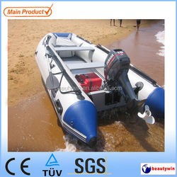 (CE)11ft folding inflatable boat with aluminum floor