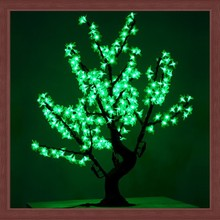 Holiday lighting fluorescent christmas tree/outdoor hanging led green fluorescent tree manufacturer