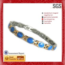 Steel Magnetic Bracelet,pearl and diamonds party decorations
