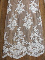 Hot sale High Quality Fashion Lace fabric White Bridal Lace 2015 New Lace Trim for Garment Dress