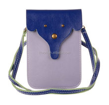New PU Leather Lady Phone Pouch Bag Case For iPhone 6
