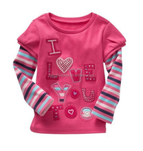2014 Fashion Summer Top Star Manufacturers Girls kids T-shirts Wholesale For Sale