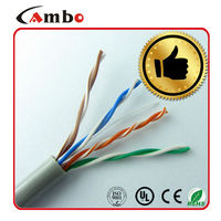 High Quality Data Transmision 4 Pair Twisted 0.51mm 100% Coppper Insulated Conductor lan connection cable cat5