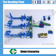 Blue Color Continuous Waste Tire Recycling Plant