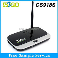 China top ten selling products satellite receiver software download CS918S Quad-Core Mali-400 1g 8g WIFI 2.4GHz HD android tv b