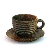 Coffee cup, sugar palm wood / coconut wood tableware
