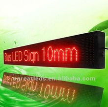 P10 high resolution bus LED display with 16x128 pixel