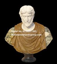Mixte couleur sculpté pierre romaine masculine buste statue