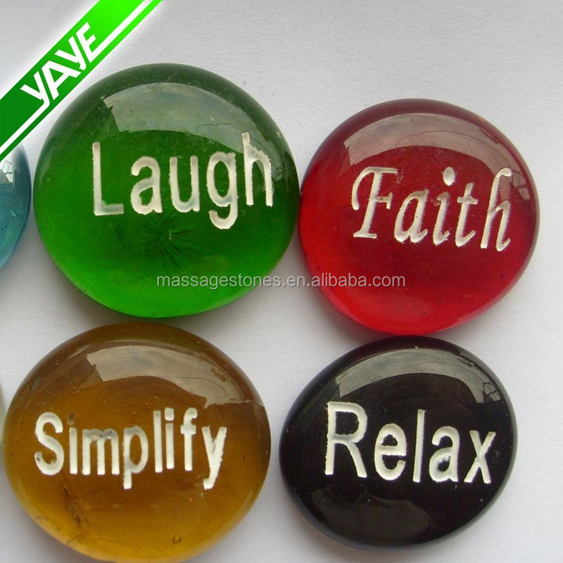 Engraving round words glass stone crafts buy words glass for Where to buy rocks for crafts