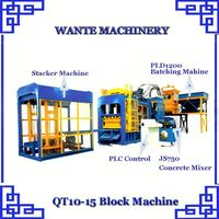 WANTE MACHINERY QT Series 6-15 automatic block making machine from direct supplier