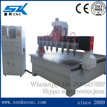 Multi heads MDF plywood carving and cutting sculpture wood carving cnc router machine SKW-1825