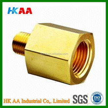 Brass reducing male and female adapter, non-standard coupling