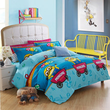 cotton cartoon printed Duvet Cover Set with minons for home use