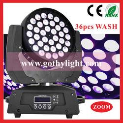 CE RoHS 10w*36 Wash / Moving Head Led Ou Lampada