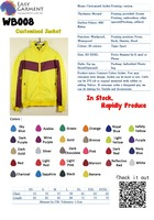 Tailor made color WB008 Logo Printing Low MOQ Sport Jacket