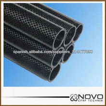 Sólido tubo de fibra de carbono de fibra de carbono 100%