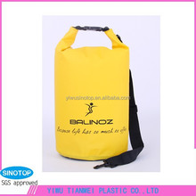 Outdoor Sports 10L PVC Waterproof Dry Bags With Shoulder Strap For Traveling